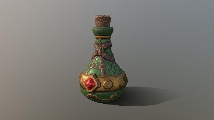 Mysterious Bottle 3D Model