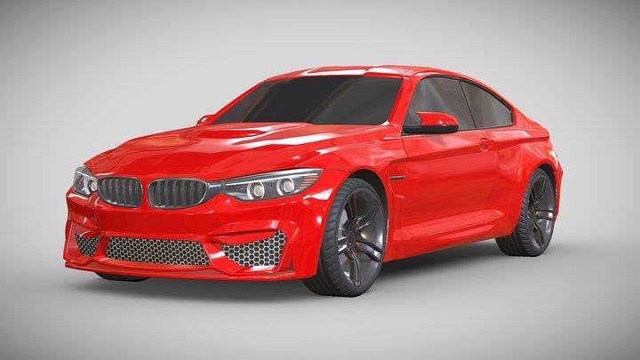 Bmw M4 2014 sports car redesigned 3D Model