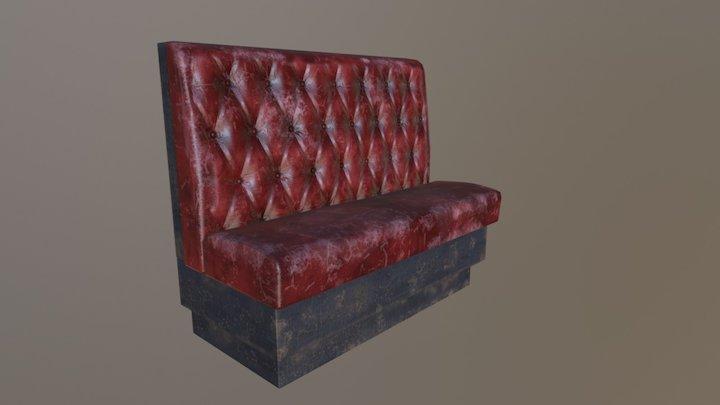 Bar Booth 3D Model