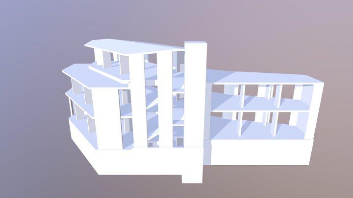 Flat slab office building 3D Model