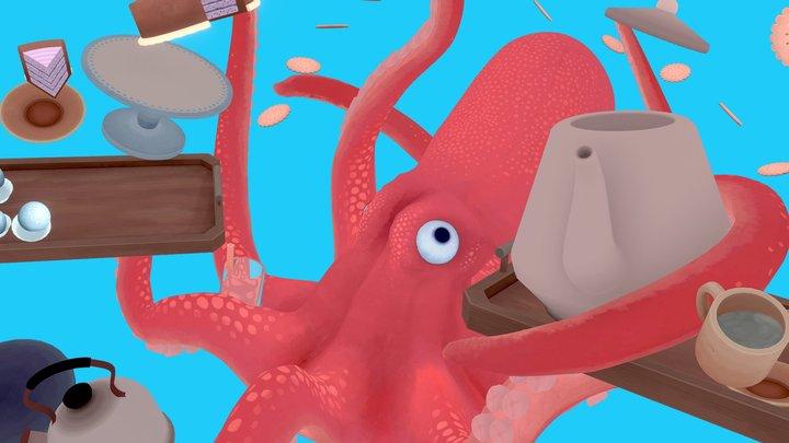 Octo Tea Party Mishap 3D Model