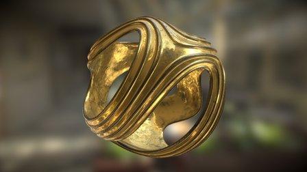 Iso Ribbed Sphere 3D Model