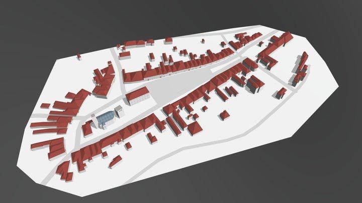 Slovak historical centre's model 3D Model