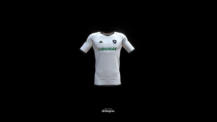 Botafogo 2007 - Camisa Branca 3D Model