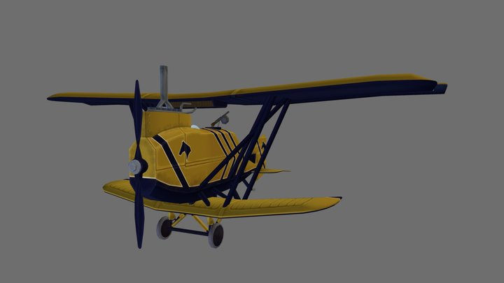 Stylised 1st Cavalry Sports Plane 3D Model