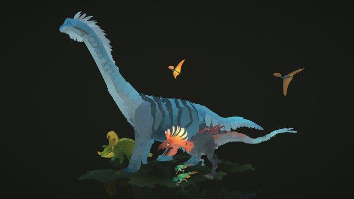 Quill - Prehistoric 3D Model