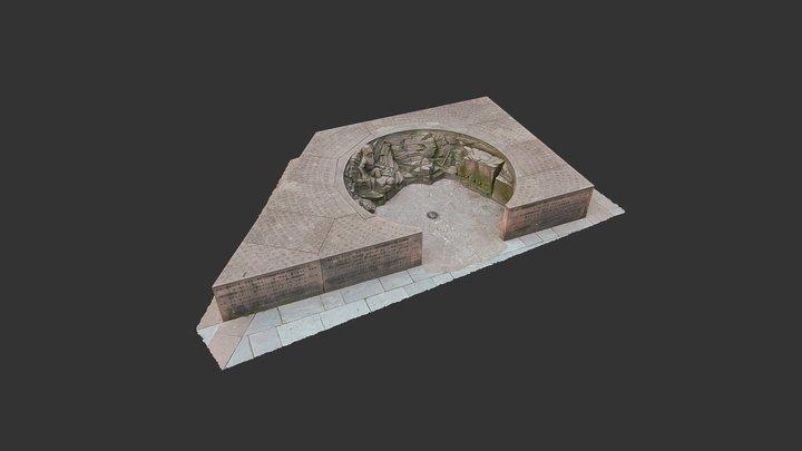 Îlot de grès - Place du Château à Strasbourg 3D Model