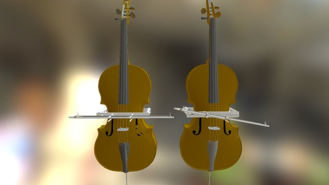 Cello Guide - bow straight and angled 3D Model