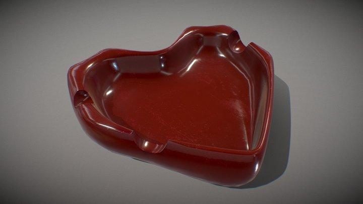 Ashtray heart 3D Model