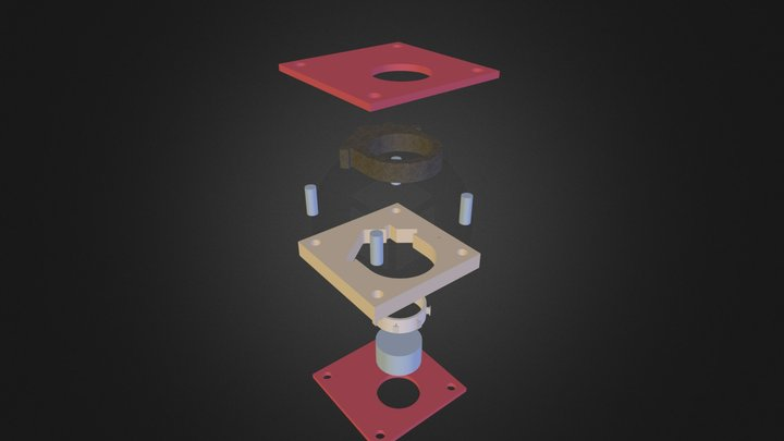DIY Concrete House Ring - Exploded Components 3D Model