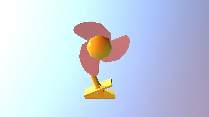 Baby Desk Fan 3D Model