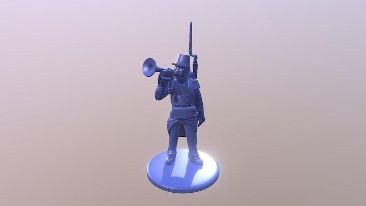 3b Bugler 3D Model