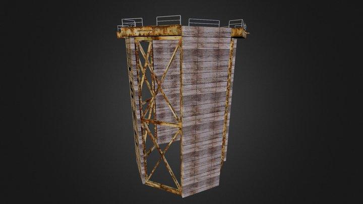 MCRD Parris Island Rappel Tower 3D Model