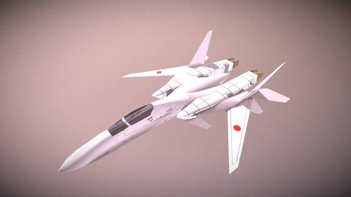 "JASDF Fighter F-283""Katana"" 3D Model"