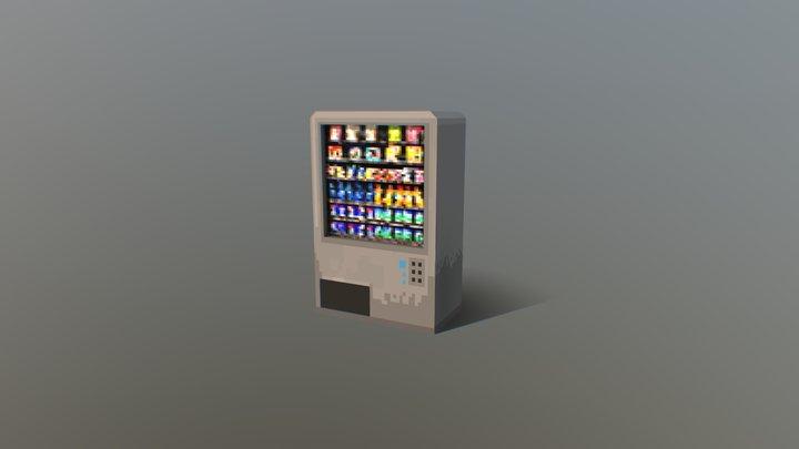 PIXEL3D - Cyberpunk collection - Vending machine 3D Model