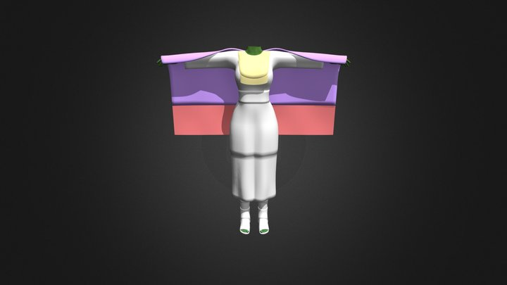 shawl dress/outfit 3D Model