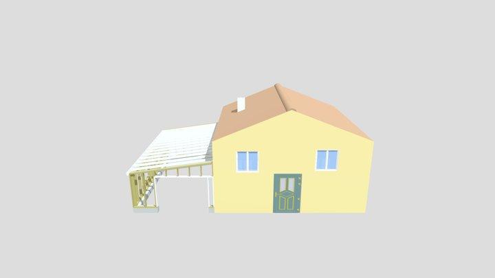 Extension en ossature bois 3D Model