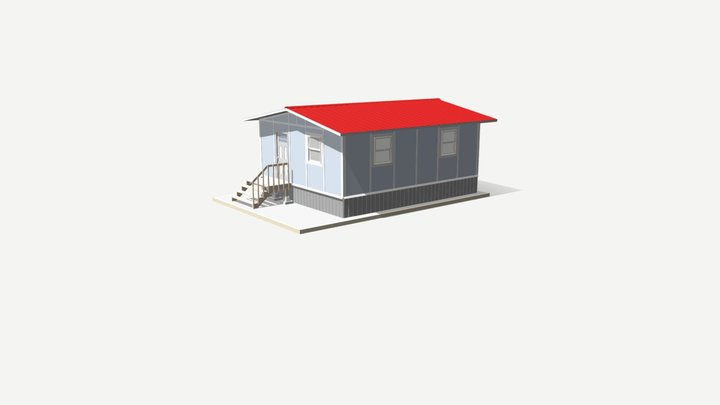 480 sq ft - 40 sq m SIP Panel House 3D Model