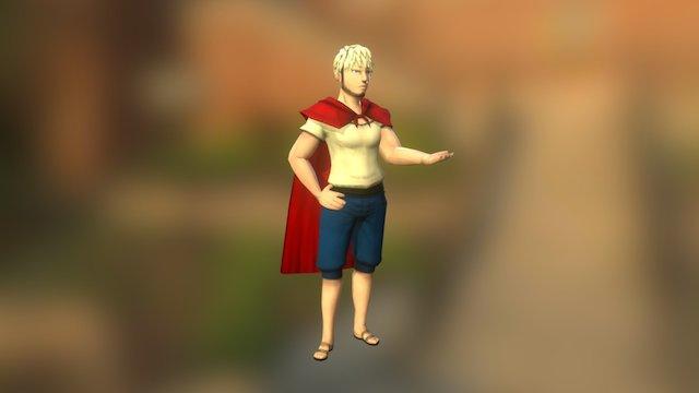 Male Little Red Riding Hood 3D Model
