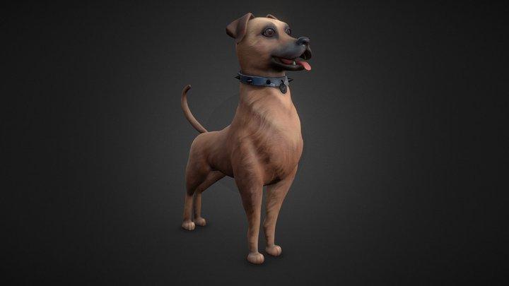 Stylized Dog 3D Model