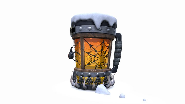 Black Widow - The Killer Beer Mug 3D Model