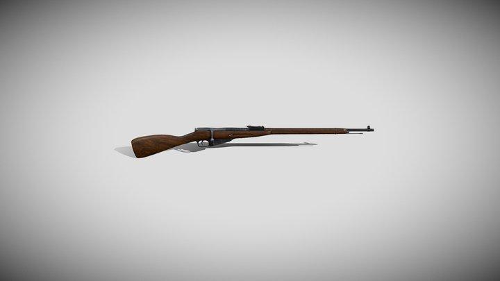 Mosin Bolt Rifle 3D Model