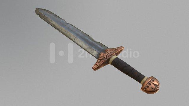 Realistic Viking Sword 3D Model
