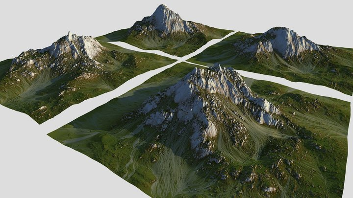 Green Mountain Pack (World Machine) 3D Model