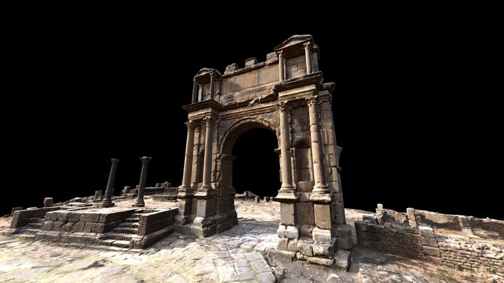 Arch of Caracalla in Djemila - Algeria 3D Model