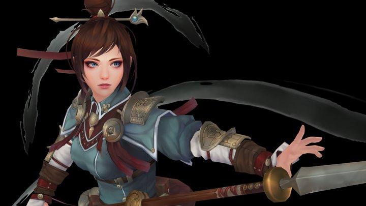 武士_Oriental warrior 3D Model