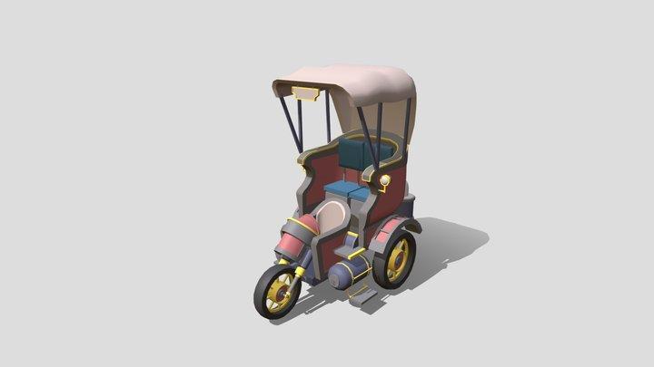 Steampunk Taxi - XYZ Homework 3D Model