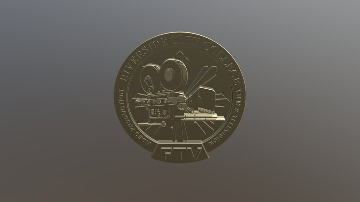 FTV- Sketch Fab Coin-01 3D Model