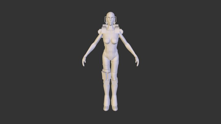 Cyber Nomad 3D Model