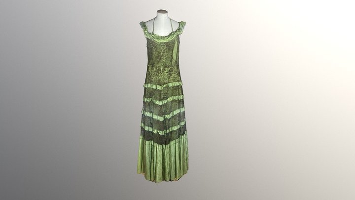 1930's Green Dress 3D Model