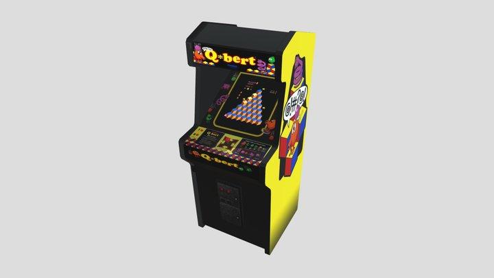 Q-bert Arcade Cabinet (Cassara Kennedy) 3D Model