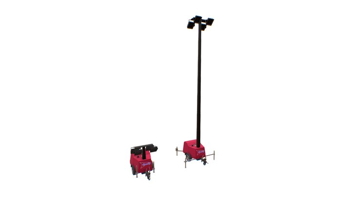Speedy Hire - Morris Towerlight TL90 MH 3D Model