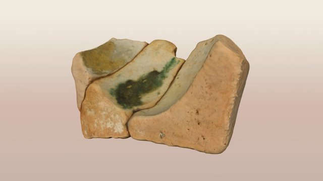 Green-glazed Earthenware Mortar, St. Johns Wreck 3D Model