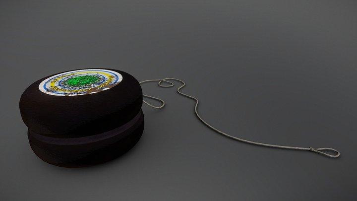 Yo- Yo Toy Worn 3D Model