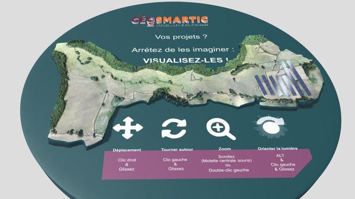 Projet éolien et photovoltaïque par Géosmartic 3D Model