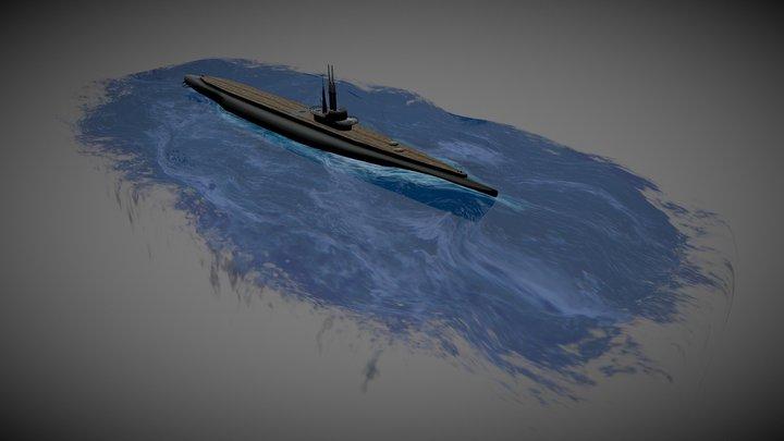 Tench Class Submarine 3D Model