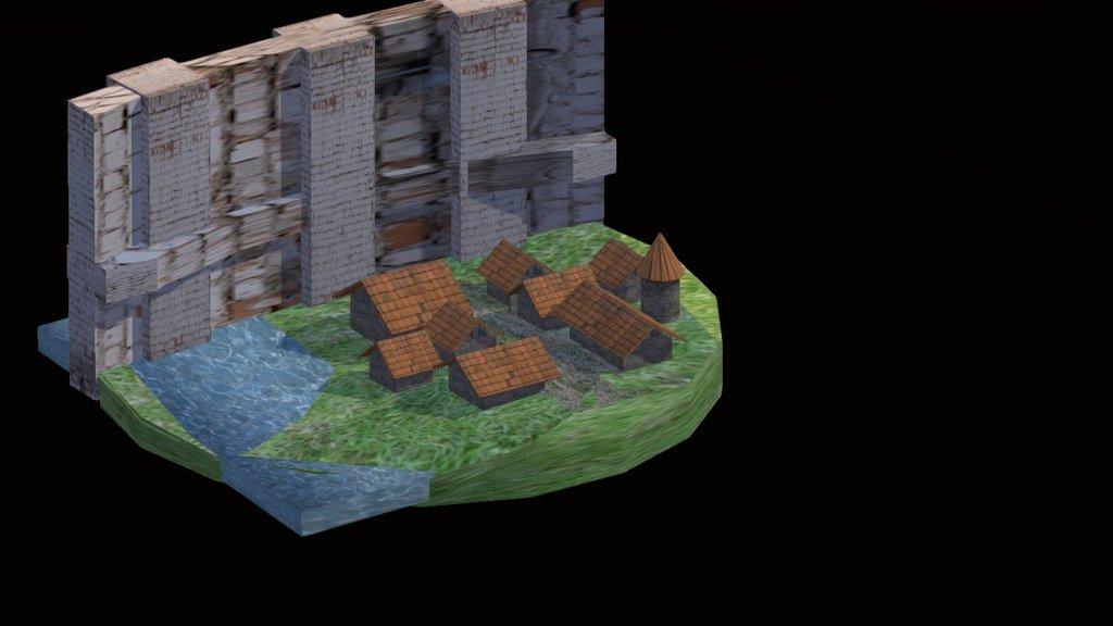 Wall Maria Attack On Titan 3d Model By B2k B2k 8e416c0 Sketchfab