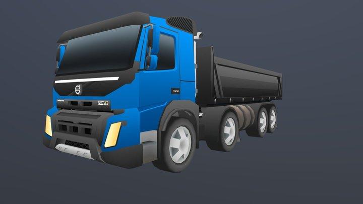 Volvo FMX Stylized 3D Model