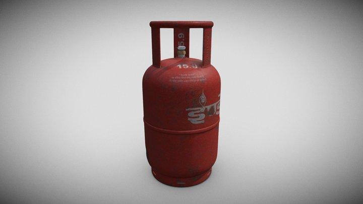 Gas Cylinder Export 3D Model