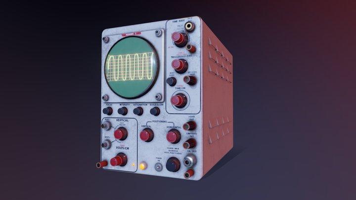 Oscilloscope 3D Model