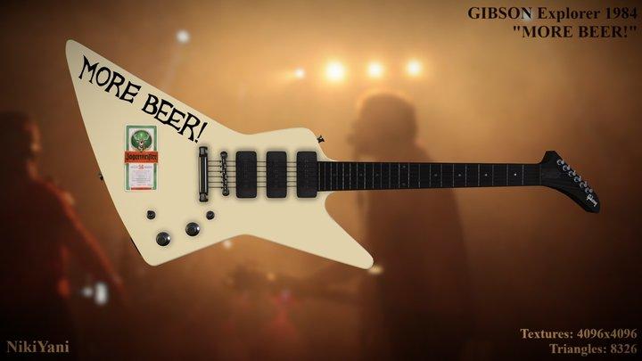 "1984 Gibson Explorer ""MORE BEER!"" 3D Model"