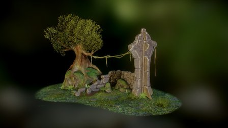 Ruined Environment 3D Model