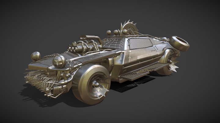 Post Apocalyptic Vehicle 3D Model