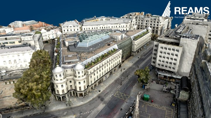 The Strand London, Simplified 3D Mesh 3D Model