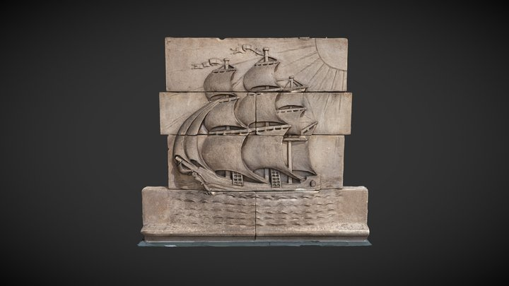 Broomielaw Ship Relief, Glasgow 3D Model