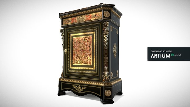 Commode of Boulle style – France, 19. century 3D Model